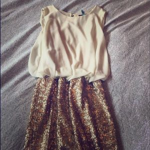 Topshop Glitter Dress